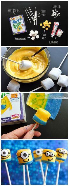 kiss recipe: Despicable Me Mini Minions. Tressa, we need to make these with Lane!!