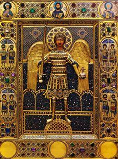 Icona dell'Arcangelo Michele stante, arte bizantino del XI-XII secolo, Venezia, Tesoro della Basilica di San Marco