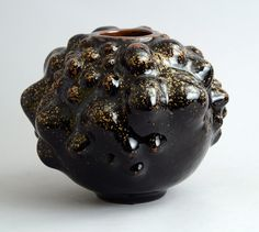 Axel Salto Budding Vase with Tenmoku Glaze | From a unique collection of antique and modern ceramics at https://www.1stdibs.com/furniture/dining-entertaining/ceramics/