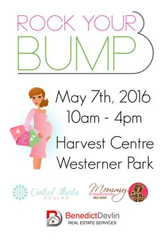 Poster for baby show with sponsors logos Red Deer, Real Estate Services, May 7th, Doula, Trade Show, Pregnancy, Advertising, Logos, Baby