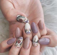 Nail Art Designs, Nail Designs Spring, Acrylic Nail Designs, Nails Design, Nail Art Flowers Designs, Pretty Nail Designs, Simple Nail Designs, Cute Acrylic Nails, Cute Nails