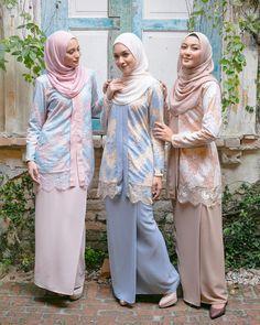 Image may contain: 5 people, people standing Dress Brukat, Kebaya Dress, Kebaya Muslim, Muslim Dress, Muslim Fashion, Hijab Fashion, Women's Fashion, Modest Dresses, Bridal Dresses