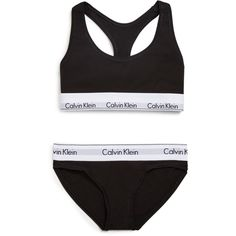 Calvin Klein Underwear Modern Cotton Bralette and Bikini Gift Set... ($23) ❤ liked on Polyvore featuring intimates, bras, underwear, lingerie, tops, black, shiny bra, cotton bras, cotton lingerie and calvin klein underwear