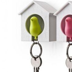 Llavero casita de pájaro Sparrow Keychain (verde) - Tienda de regalos originales QueLoVendan.com