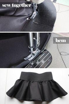 DIY Peplum decorative overskirt. So easy! I'll do it. ;)