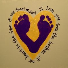 Footprint art - good idea for Father's Day