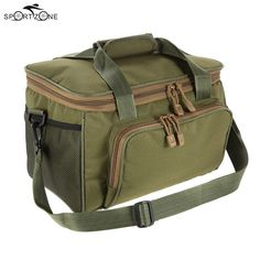 Multifunctional Canvas Waist Shoulder Fishing Bag Outdoor Sport for Men Fishing Tools, Fishing Tackle, Fishing Lures, Tackle Bags, Fish In A Bag, Pack Your Bags, Multifunctional, Bag Storage, Shoulder Bag