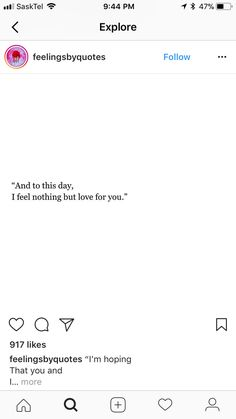To this day I still feel love for you ...
