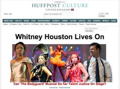 Whitney Houston Lives On: Can 'The Bodyguard' Musical Do her Talent Justice On Stage? Read full review: http://www.huffingtonpost.co.uk/2012/12/06/the-bodyguard-review_n_2250701.html?utm_hp_ref=uk