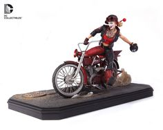 Harley Quinn motorcycle statue