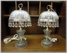 Made in stylish vintage crystal form, table lamps are a