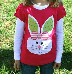 Easter Bunny shirt for girls toddler and baby by jenny7777 on Etsy, $27.95