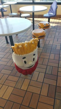 Eating your Happy Meal on these chairs at McDonald's. | 45 Things From Your '90s Childhood You Probably Forgot About