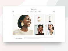 Jewelry shop designed by Marina Pavlović for Qode Interactive. Connect with them on Dribbble; Website Design Layout, Homepage Design, Website Design Inspiration, Luxury Website, Modern Website, Jewellery Shop Design, Jewelry Shop, Websites Design, Jewelry Banner