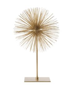 Torre & Tagus Spike Sphere Sculpture, Gold at MYHABIT