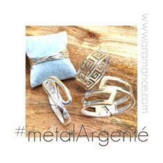 Et voici les #bracelets en #métalArgenté avec leur ingénieuse ouverture/fermeture ressort : des bracelets intemporels et modernes à la fois avec leur design géométrique ! Le collier articulé en métal argenté est assorti... #bijouMétalArgenté  #braceletMétalArgenté  #collierMétalArgenté