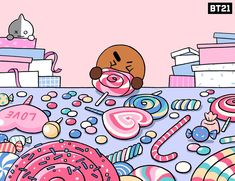 — bangtan:When you need to level up your mood . Bts Suga, Bts Taehyung, Bt 21, Bts Twt, Line Friends, Bts Drawings, Bts Chibi, About Bts, Signs