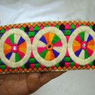 Embroidered Trim Decorative Sari Border Sewing Crafting Indian Laces