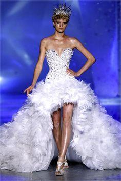 Tulle Hi-low Bottom Dress | Designed by Zuhair Murad