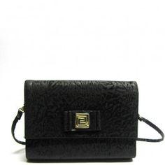 Black vintage shoulder and clutch bag