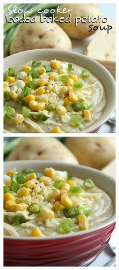 Slow Cooker Vegetarian Loaded Baked Potato Soup from Amuse Your Bouche.  This can cook all day while you're at work!