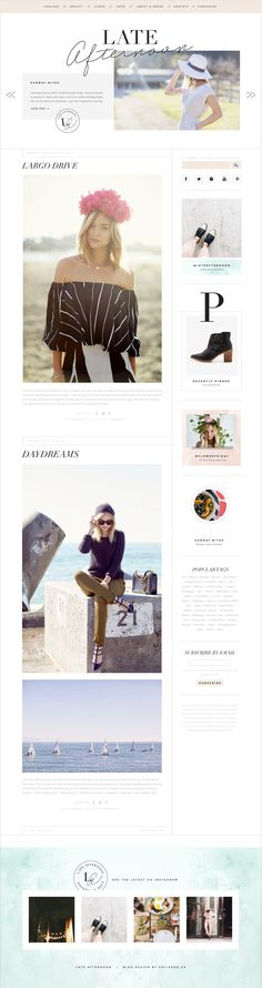 LATE AFTERNOON NEW BLOG DESIGN  — GO LIVE HQ