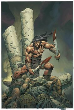Image result for conan the barbarian comic art