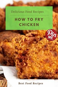How to Fry Chicken – Yummy Best Chicken Recipes, Chicken Salad Recipes, Good Food, Yummy Food, Fried Chicken, A5, Macaroni And Cheese, Fries, Asian