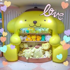 Pompompurins inside a huge Pompompurin ✨ From the Sanrio World store in Tokyo