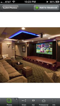 Home theatre - the stage idea...