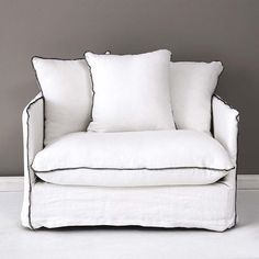 Provincial Home Living - Furniture & Homewares for the Bedroom, Bathroom, Living, and Kitchen Linen Couch, White Sofas, Sorrento, City Chic, Studio Apartment, Furniture Decor, Living Spaces, Living Room, Love Seat