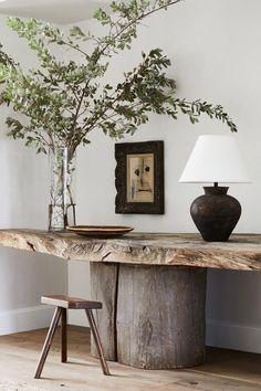 Nature Home Decor, Interior Inspiration, Room Inspiration, Home Living Room, Living Spaces, Foyer, Entryway, Japanese Philosophy, Halls