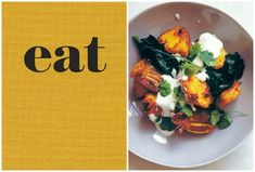 ... new book 'eat'); roasted spicy potatoes w/ yogurt and wilted spinach