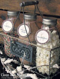 Hot Cocoa Bar..cute gift idea.