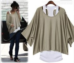 L 071304 Fashion, bat sleeve, loose big yards