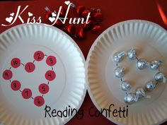 Hunting for Kisses - fun way to practice numbers or letters