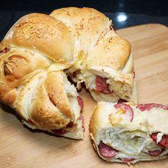Tortano - Rosca de Calabresa com Muçarela | Máquina de Pão