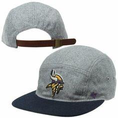 47 Brand Minnesota Vikings Melton 5-Panel Wool Strapback Hat - Ash Navy  Blue 3f4442d05