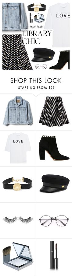 """Study Session: Library Chic"" by dora04 ❤ liked on Polyvore featuring Gap, Soufiane Ahaddach, Valentino, Balmain, Henri Bendel, Burberry, Chanel and librarychic"