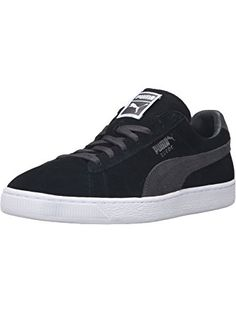 PUMA Men's Suede Classic+-M Fashion Sneaker, Puma Black/Dark Shadow, 14 M US ❤ PUMA