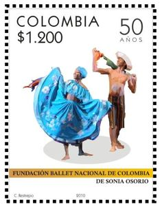 Stamp: Currulao Dance (Colombia) (Sonia Osorio Ballet of Colombia Foundation, Anniv.) Mi:CO 2657 Beautiful Places To Visit, 50th Anniversary, Choir, Postage Stamps, Ballet Dance, Musicals, Foundation, Author, Movie Posters