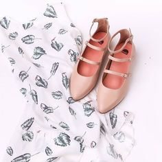 Slip into a shift dress and soak up the heat in our blush 'Florican' flats. Wait til you see what colour we bring in next.Requests anyone?