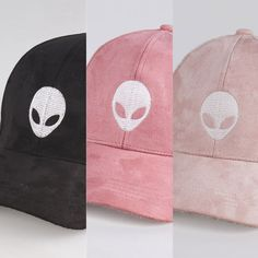 bd4c9e40667 Alien Embroidered Faux Suede Baseball Cap