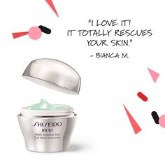 In need of a #skincare #savior? This spring, refresh your #makeup bag with #IBUKI Multi Solution Gel. #Shiseido #skin