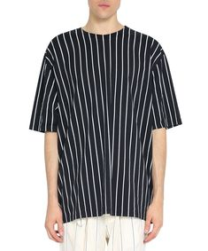 HAIDER ACKERMANN OVERSIZED STRIPED COTTON T-SHIRT. #haiderackermann #cloth #