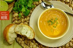 Sweet Potato with Thai Curry & Coconut Soup - We made this with butternut squash, and it's fantastic! I love The Cook Shop in Marietta, OH!