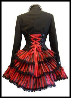 Damen Rock schwarz Beaver Gothic Steampunk Victorian Skirt Vintage Punk Rock neu