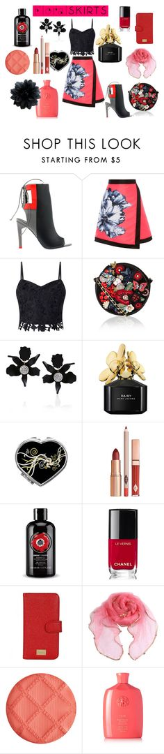 """""""Floral skirts"""" by maria-tamarindo ❤ liked on Polyvore featuring Alepel, Coast, Lipsy, Accessorize, Lele Sadoughi, Marc Jacobs, Chanel, Dolce&Gabbana, By Terry and Oribe"""