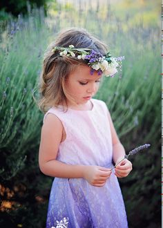 Little girl with lavender crown