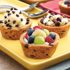 Such a fun idea! Make it Your Way Cookie Cups.